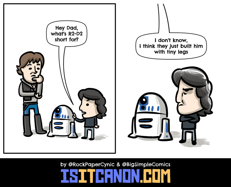 In this comic, we explain what R2-D2 is short for, solving a long-standing mystery about everyone's favorite droid.